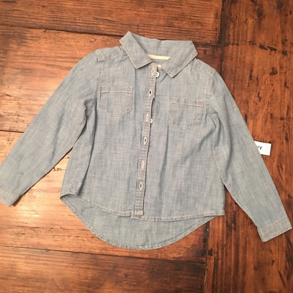 Old Navy Other - NEW! Old Navy Chambray Shirt Size 4